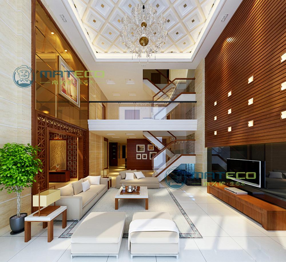 生态木打造出不同风格的客厅