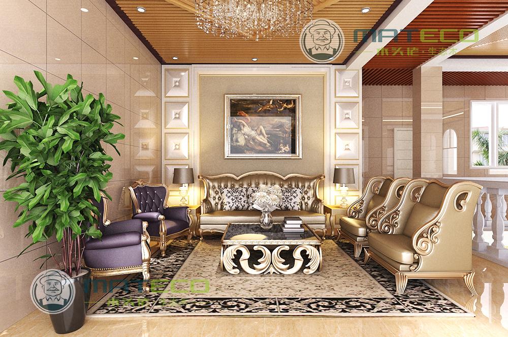 欧式木头家具客厅图片
